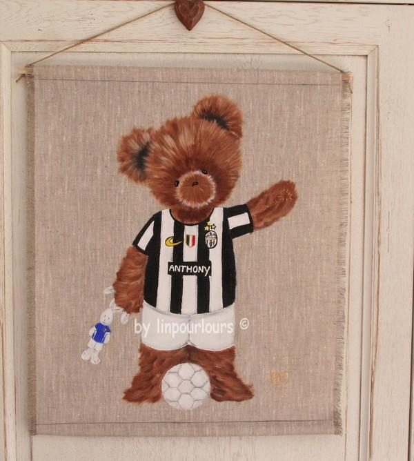 lin pour l 39 ours peinture acrylique sur toiles lin et toiles de jute tendues pour enfants. Black Bedroom Furniture Sets. Home Design Ideas